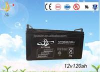 12v rechargeaable agm vrla battery, 12v 120ah valve regulated lead acid battery for Electric tools & inverter system