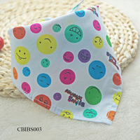 KAREADO new born baby products mixed batch multi color design triangle burp clothbibs cotton Organic baby bandana