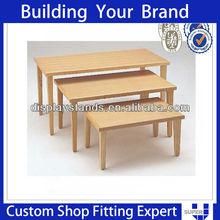 commercial garment design wooden nesting table