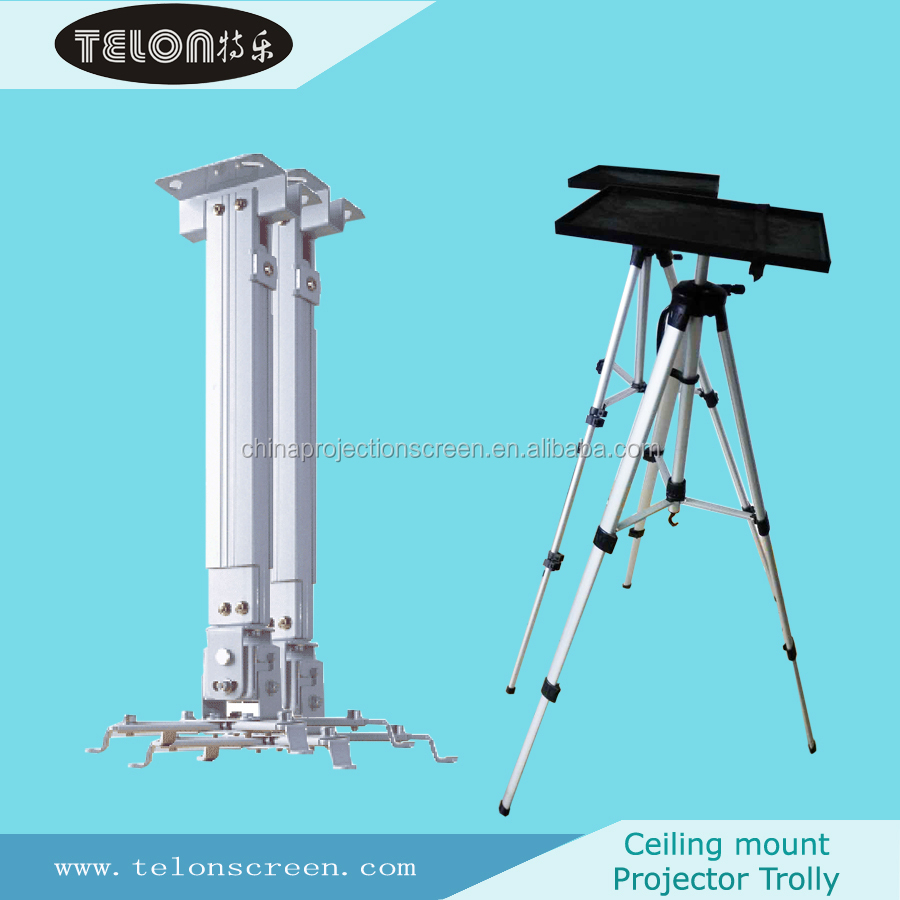 Projector ceiling mount and projector trolley buy for Motorized retractable projector screen