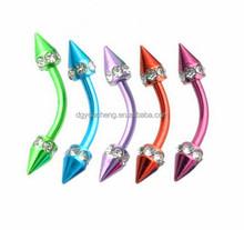 Diamond Body Jewelry Diamond Eyebrow Ring