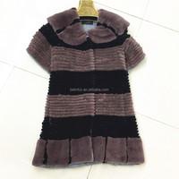 China long style new fashion rex rabbit fur vest fur body warmer