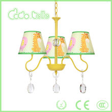 Green mouse modern kid metal pendant lamp hot sale yellow children chandelier light