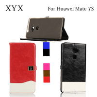 trendy design leather flip cover for huawei7s, smart cover case for huawei mate 7s phone