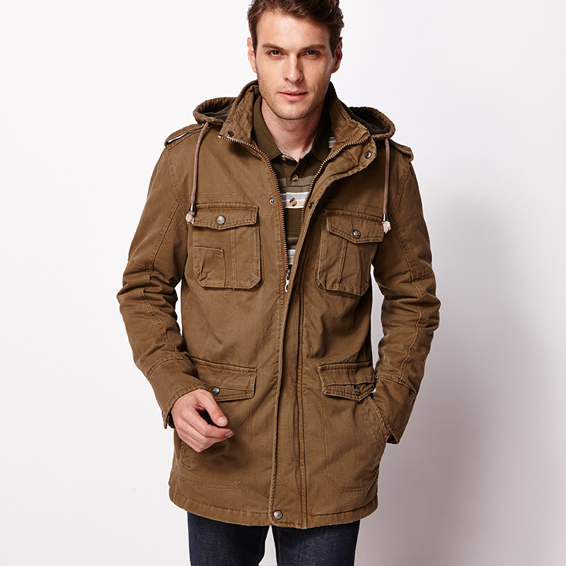 Images of Mens Parka Jacket - Reikian