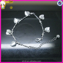 Popular real flower resin bangle with silver flower charm bali silver bangle bracelet