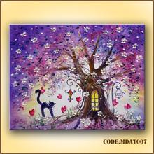 Romantic abstract canvas art