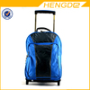 Black and Blue Kids School Trolley Backpack Wheels Backpack