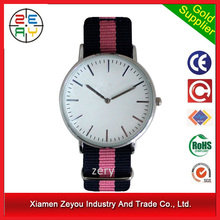 R0792 2015 new design men's watches high quality, branded watch nylon strap guangzhou watch factory