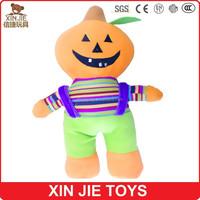 OEM hallowmas plush pumpkin toy cute plush pumpkin doll for hallowmas nice design plush hallowmas pumpkin toy for kids