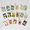 suspensão pequenos cartões de natal para a árvore de natal