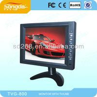 "8"" TFT LCD colour tv Monitor car monitor with TV,AV and VGA function"