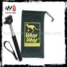Multifunctional selfie stick pouch drawstring, customized selfie stick bag, microfiber selfie stick package pouch