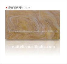 translúcido de alabastro del faux de poliéster de la pared del panel