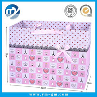 2015 new design paper gift bag with bowknot