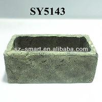Deep Trough rectangular cement garden plant pots