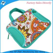 2015 new products ladies flower printing full protective neoprene laptop sleeve