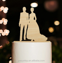 Silhouette Wedding Cake topper Wood Cake Decoration