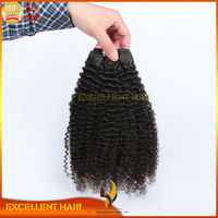 Afro Curly Hair Extension for Black Women 100% Human Curly Hair Weft Indian Remy Hair Weaving