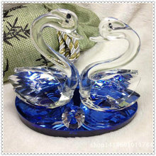 Factory Wholesale Blue Twin Swan for Table Decoration