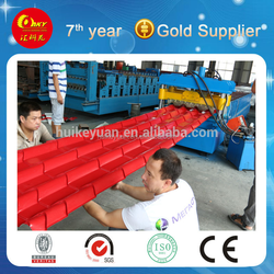Glazed Tile Roof Panel Roll Forming Machine/Glazed Aluminum Sheet Metal Roofing Rolls Forming Machine