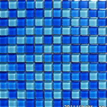 Bedroom thickness 8mm glass mosaic tile from China