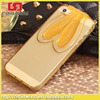 3D Bunny Rabbit TPU Soft Silicone Case for iPhone 5 5s Cartoon Mobile Phone Bags Cases Ear Stand Holder