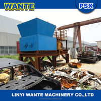 car crusher/used waste tire recycling machine/plastic tyre shredder and crusher grinder plant