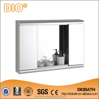 Double Doors Stainless Bathroom Mirror Cabinet with Large Storage Space