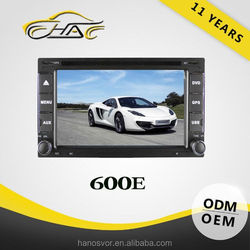 6.2 inch double din universal in dash car dvd play oem gps navigator