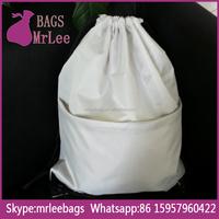 Custom design grey polyester fashion waterproof drawstring sling backpack bags