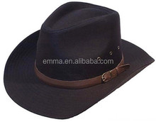 High quality straw pattern for cowboy hat cheap cowboy hat HT8416