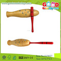2015 peixe design madeira guiro instrumento musical, populares brinquedos de madeira clássico