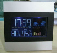2015 factory supply weather clock with desktop items