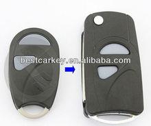 Best price 2 buttons flip modified remote key shell for suzuki flip key suzuki key cover