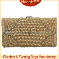 Fashion Ladies Purses pearl beaded clutch evening bag HW-BE1365