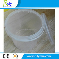 5Liter clear food plastic buckets used for food packing and storage