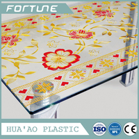 Laminated soft glass PVC Laminated table covers high class pvc table protection cover