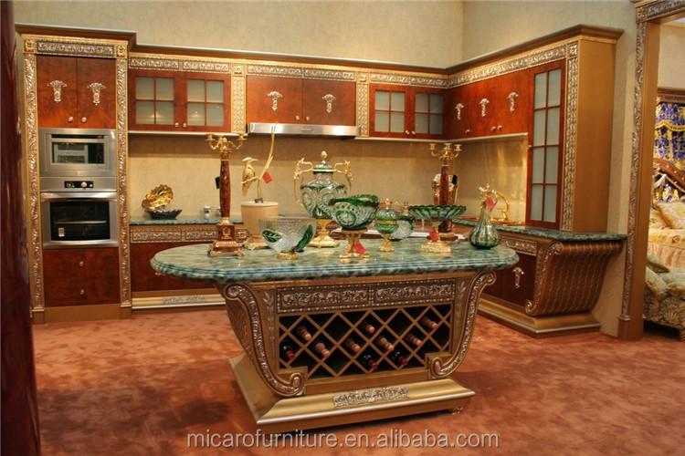 nouveau modèle italien classique antique royal bois armoires de ... - Modele De Cuisine Design Italien