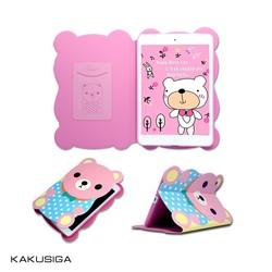 pu leather Cartoon Bear for ipad mini 2 smart case cover