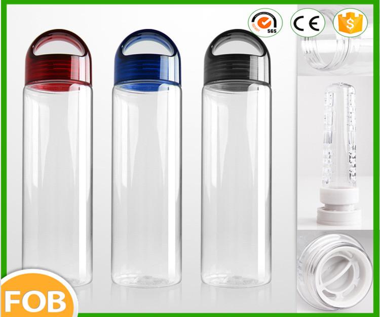 Nouveaux produits 2016 fruits bouteille d'eau / plastique boisson sport bouteille / bouteille d'eau de désintoxication de fruits de infuseur
