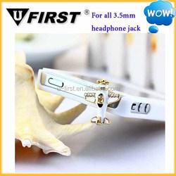 Soft PVC earphone dust plug for promotion sale.cute anti dust plug for phones