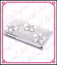 Aidocrystal handmade crystal diamond I 6/6plus phone case 3D luxury bling leather case for I 5/5s/4/4s