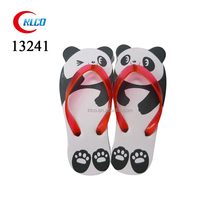 Child fashion fancy platform panda cartoon PE flip flops