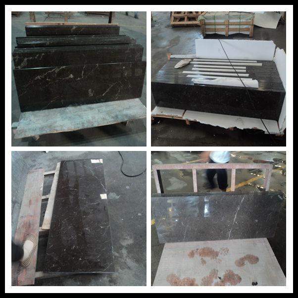 Angola grijs marmer aanrecht in de keuken eiland countertop ...