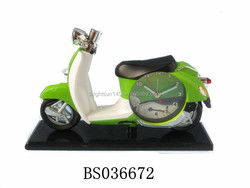 The latest Motorcycle designed desk decorative clocks plastic gifts