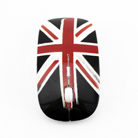 Cute office wireless mouse gaming British flag shape wireless mouse 2.4Ghz popular mouse