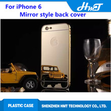 mirror style bright cell Phone case for iPhone 6 5.5 inch ,for iPhone 6 plus back cover cell Phone case