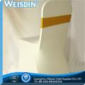 Twill do spandex atacado/nylon cadeira de poliéster cobrir com faixa de cetim