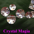 Cristal Magia vidrio perla libra esterlina plata agujero costura piedras para vestido de boda